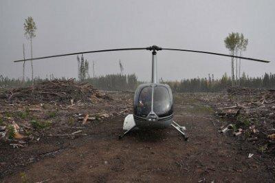 В Башкирии упал спасательный вертолет Robinson с тремя людьми на борту